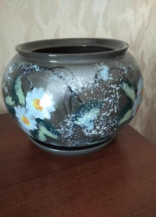 Кашпо керамическо для цветов