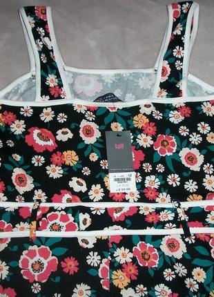 Натуральное яркое летнее платье-сарафан2 фото