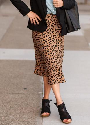Сатиновая юбка миди, юбка-комбинация devier studios 1+1=3