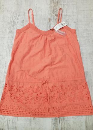 Хлопковая летняя блуза майка m papaya