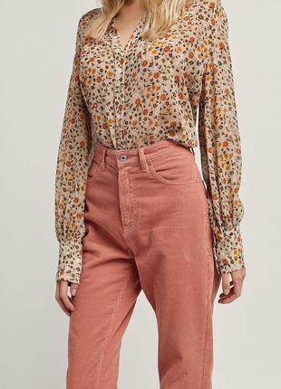 Вельветові джинси mom fit stradivarius