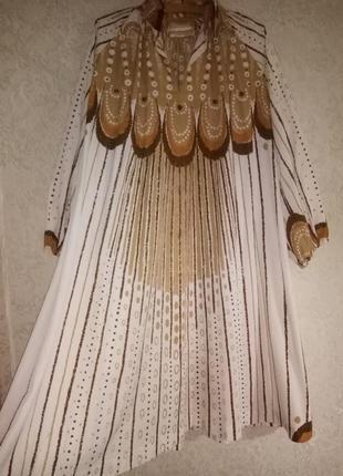 Платье-кафтан в стиле ретро 70-х от maud fredin fredholm, винтаж2 фото