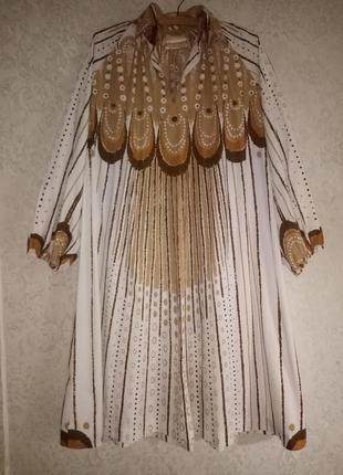 Платье-кафтан в стиле ретро 70-х от maud fredin fredholm, винтаж