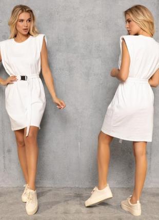 Платье летнее с поясом. качество!