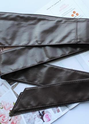 Женский пояс кушак коричневый