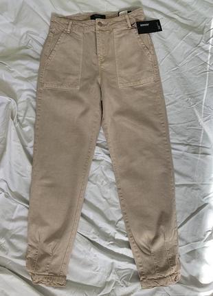 Джинсы на высокой талии, джогери, светлые джинсы, джинси висока талія, reserved.
