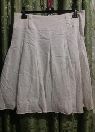 Тоненькая катоновая юбка на подкладке