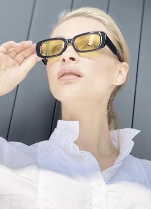 Солнцезащитные очки с жёлтыми линзами3 фото