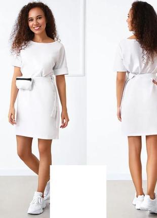 """Женское летнее платье с сумочкой на поясе """"амбер"""", 42-44, 46-48, 50-52 р., 4 цв."""