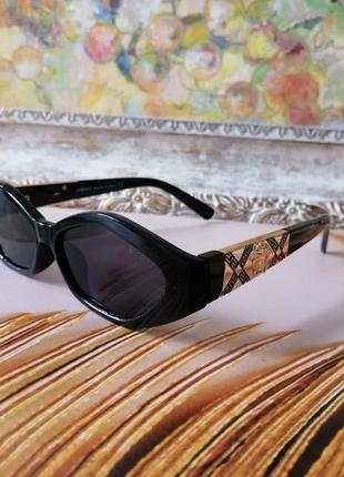 Эксклюзивные чёрные брендовые солнцезащитные женские очки многогранник 2021