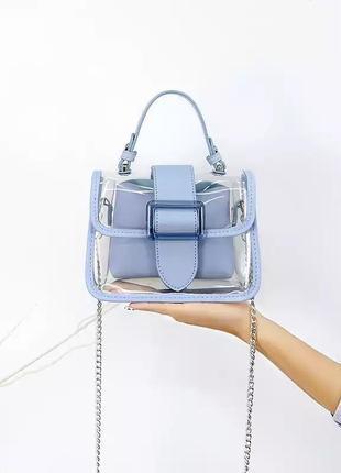 Прозрачная новая сумка, прозрачная летняя сумка, сумка через плечо