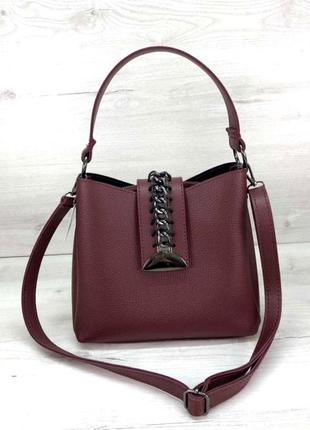 Стильная компактная сумка aliri-576-07 бордовая