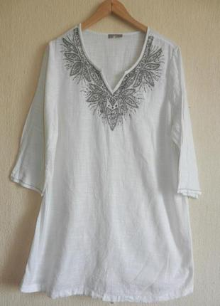 Шикарная блуза туника круиз расшита бисером
