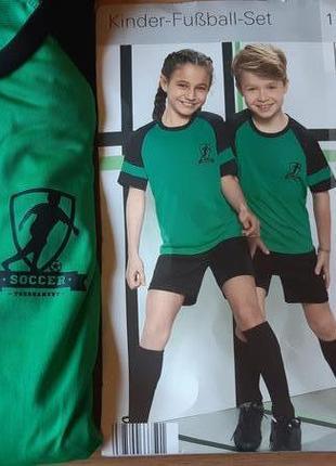 Детская футбольная форма crane полный комплект с гетрами новая unisex германия