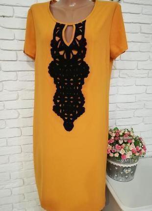 Платье с кружевом,р.l