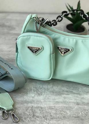 Жіноча літня сумочка, хіт сезону, подарунок, женская сумка яркие цвета, мята, мятный, бирюзовая, мятная