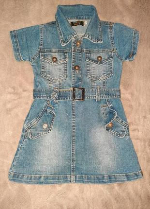 Детское джинсовое платье