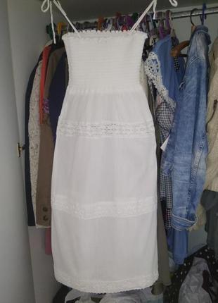 Платье хлопковое topshop xs - s