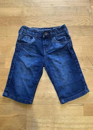Джинсовые шорты чиносы matalan для модника 5-6 лет