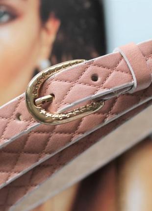 Женский узкий кожаный ремень пудовый