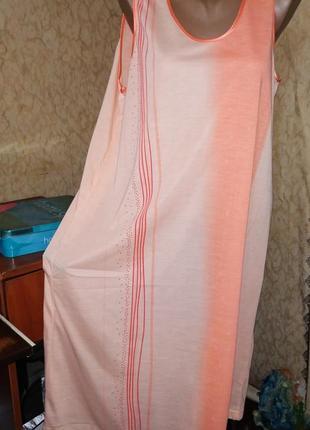 Домашнее платье -майка,ночная рубашка, сорочка 48/56