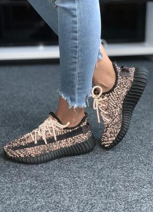 Женские мужские кроссовки adidas yeezy boost 350 black full reflective, кроссовки адидас изи буст 350 полностью рефлективные черные