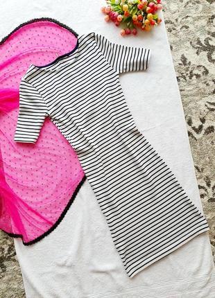 Платье в полоску по фигуре, xs-s размер