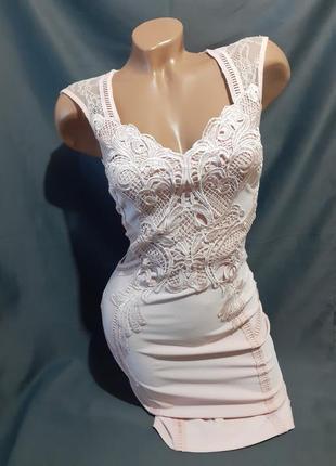 Платье кружево кружевное нарядное вечернее спина декольте кружево кружевное бандажное