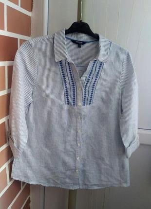 Лен рубашка с вышивкой новая