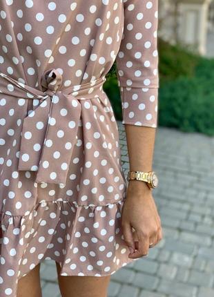 Женское платье в горох3 фото