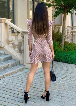 Женское платье в горох2 фото