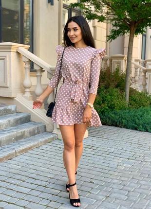 Женское платье в горох4 фото