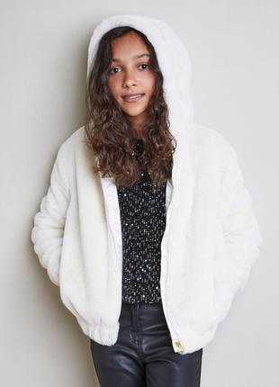 Классная куртка из искуственного меха от dunnes stores на 11-12лет, англия