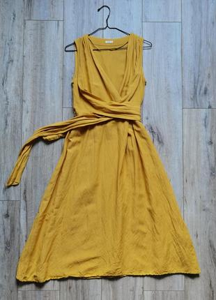 Льняное платье сарафан испания