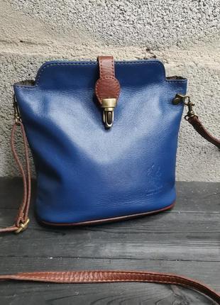 Шикарная кожаная итальянская сумка