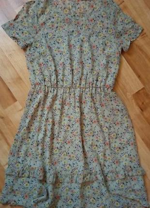 Шифонове літнє плаття м'ятне мятное шифоновое платье цвета  мяты