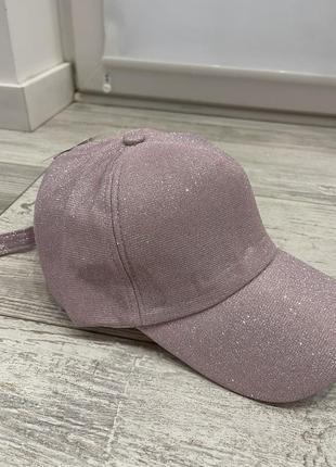 Розовая кепка с блестками!