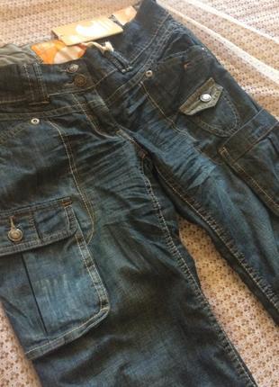 Крутые легкие джинсы бойфренды карго с карманами soulcal