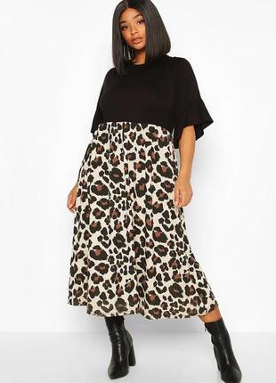 Миди платье от boohoo, англия, большой размер.