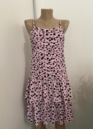 Распродажа!!! актуальное платье в горошек №303max5 фото