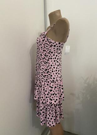 Распродажа!!! актуальное платье в горошек №303max6 фото