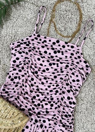 Распродажа!!! актуальное платье в горошек №303max3 фото