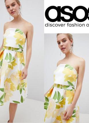 Красивое платье миди asos uk14/eu 42