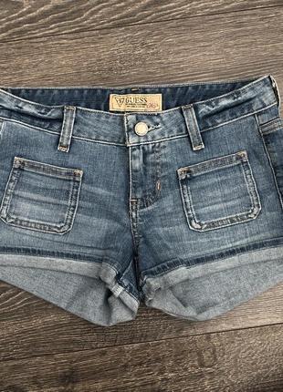 Guess джинсовые шорты. размер xs,xxs.