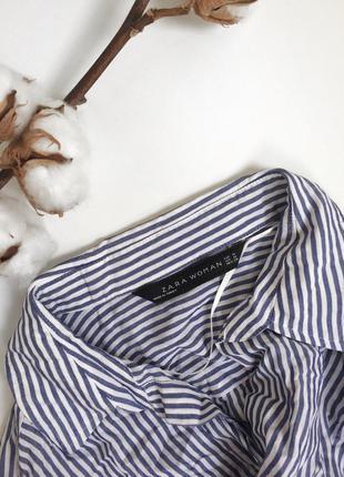 Рубашка oversize в полоску zara (m)5