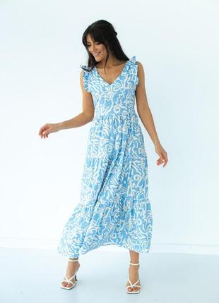 Платье летнее, сарафан , голубой