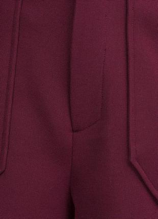 Плотные шорты с высокой посадкой винного цвета zara (s)2