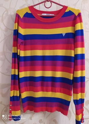 Стильный яркий свитерок guess
