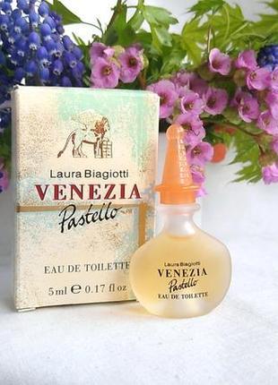 Винтажгая миниатюра venezia pastello отlaura biagiotti, 5 мл, туалетная вода
