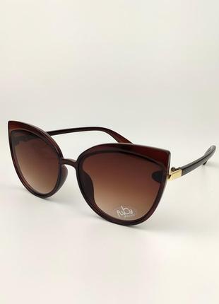 Женские солнцезащитные очки flyby «kitty» коричневая роговая оправа